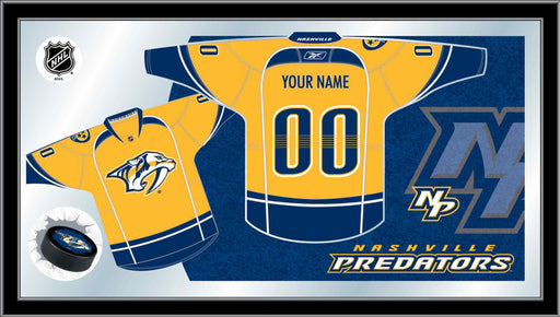 Nashville Predators Custom Jersey Bar Mirror | Man Cave Authority | MJrsyNshPre