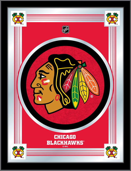 Chicago Blackhawks Bar Mirror | Man Cave Authority | MLogoChiHwk