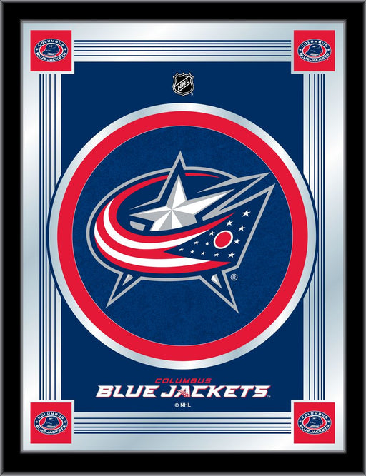 Columbus Blue Jackets Bar Mirror | Man Cave Authority | MLogoColBlu