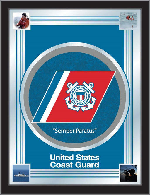 United States Coast Guard Bar Mirror | Man Cave Authority | MLogoCstGrd