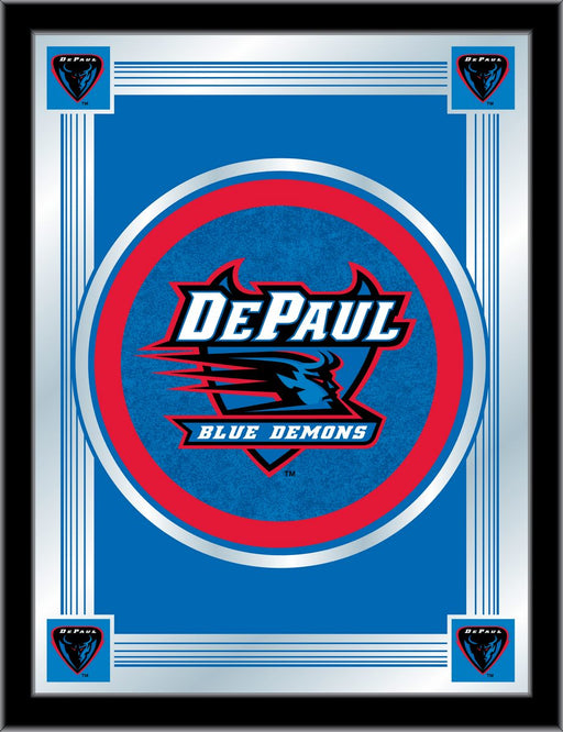 DePaul University Bar Mirror | Man Cave Authority | MLogoDePaul