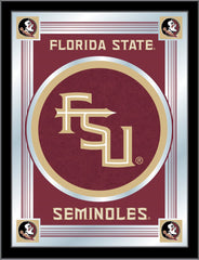 Florida State Script Bar Mirror | Man Cave Authority | MLogoFSU-FS