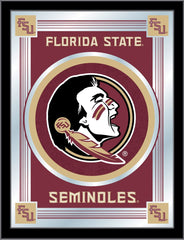 Florida State Head Bar Mirror | Man Cave Authority | MLogoFSU-HD