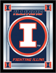 University of Illinois Bar Mirror | Man Cave Authority | MLogoIlliniU