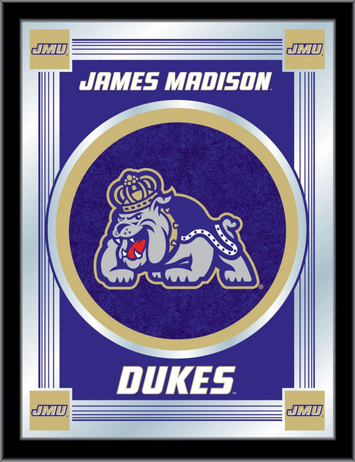 James Madison University Bar Mirror | Man Cave Authority | MLogoJmsMad