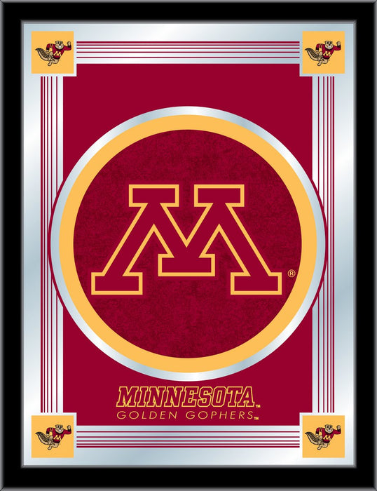 University of Minnesota Bar Mirror | Man Cave Authority | MLogoMinnUn