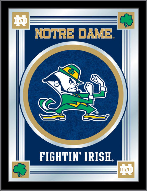 Notre Dame Leprechaun Bar Mirror | Man Cave Authority | MLogoND-Lep