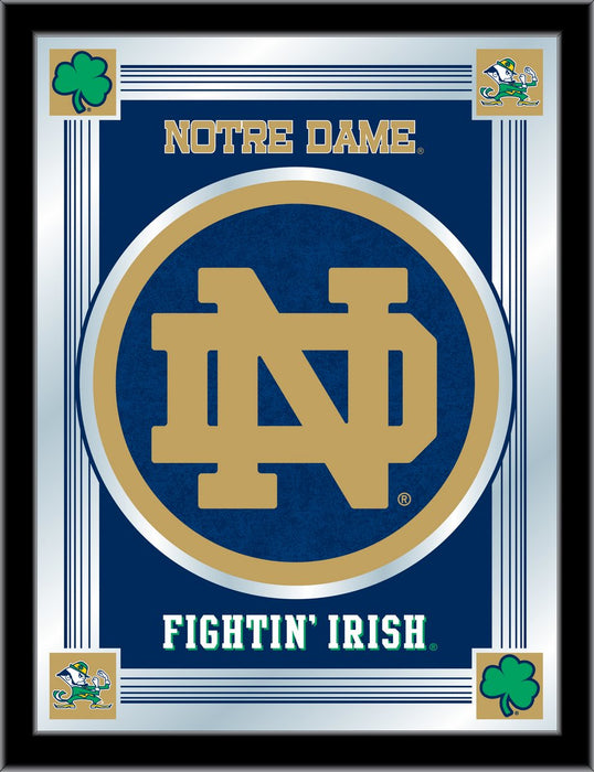 Notre Dame  ND Bar Mirror | Man Cave Authority | MLogoND-ND