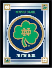 Notre Dame  Shamrock Bar Mirror | Man Cave Authority | MLogoND-Shm