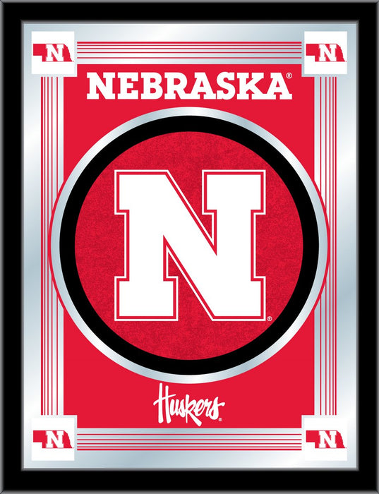 University of Nebraska Bar Mirror | Man Cave Authority | MLogoNebrUn