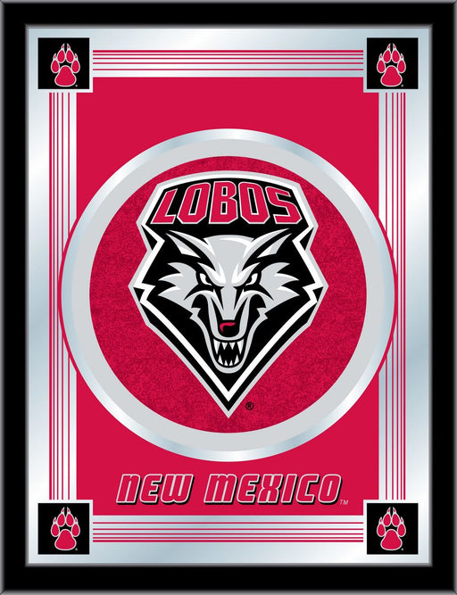 University of New Mexico Bar Mirror | Man Cave Authority | MLogoNewMex