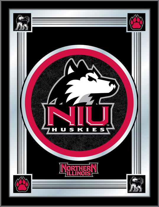 University of Northern Illinois Bar Mirror | Man Cave Authority | MLogoNorIll