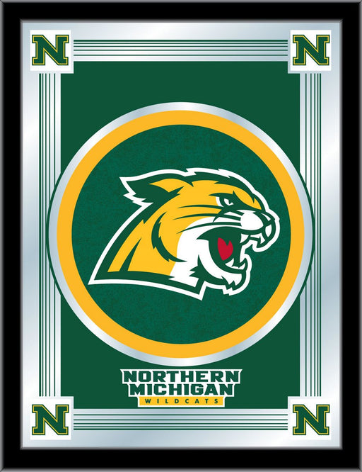 Northern Michigan University Bar Mirror | Man Cave Authority | MLogoNorMic