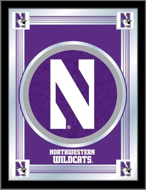 Northwestern University Bar Mirror | Man Cave Authority | MLogoNthwst