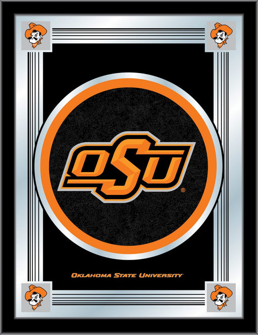 Oklahoma State University Bar Mirror | Man Cave Authority | MLogoOKStUn