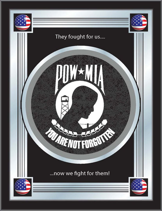 POW/MIA Bar Mirror | Man Cave Authority | MLogoPOWMIA
