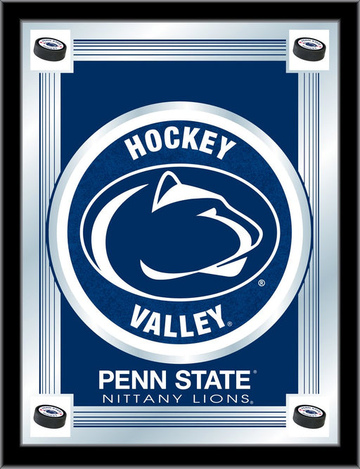 Pennsylvania State University Hockey Bar Mirror | Man Cave Authority | MLogoPennStHky