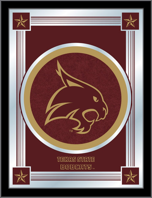 Texas State University Bar Mirror | Man Cave Authority | MLogoTexsSt