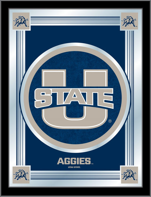 Utah State University Bar Mirror | Man Cave Authority | MLogoUtahSt