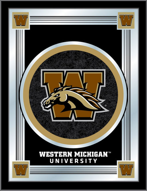 Western Michigan University Bar Mirror | Man Cave Authority | MLogoWestMI