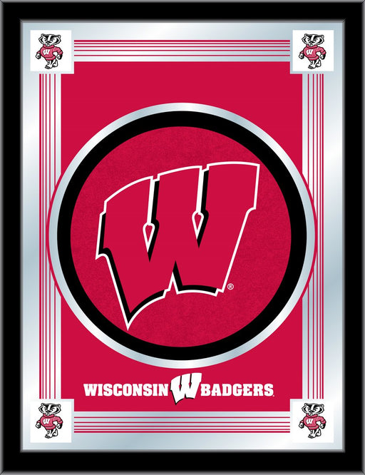 University of Wisconsin W Bar Mirror | Man Cave Authority | MLogoWisc-W