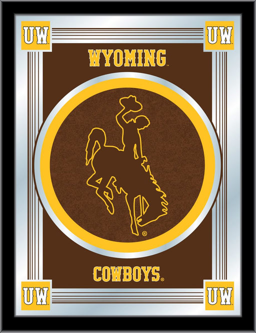 University of Wyoming Bar Mirror | Man Cave Authority | MLogoWymng
