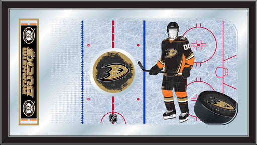 Anaheim Ducks Hockey Rink Bar Mirror | Man Cave Authority | MRinkAnaDks