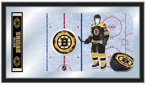 Boston Bruins Hockey Rink Bar Mirror | Man Cave Authority | MRinkBosBru