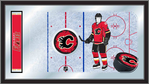Calgary Flames Hockey Rink Bar Mirror | Man Cave Authority | MRinkCalFla