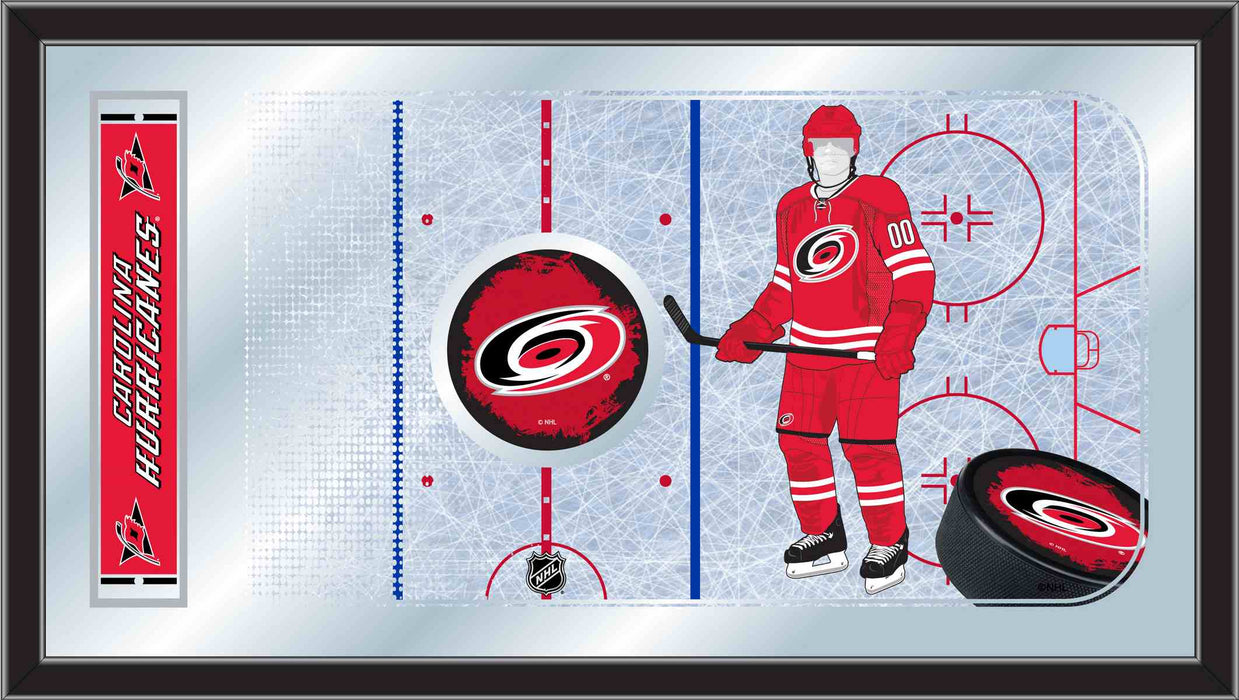 Carolina Hurricanes Hockey Rink Bar Mirror | Man Cave Authority | MRinkCarHur