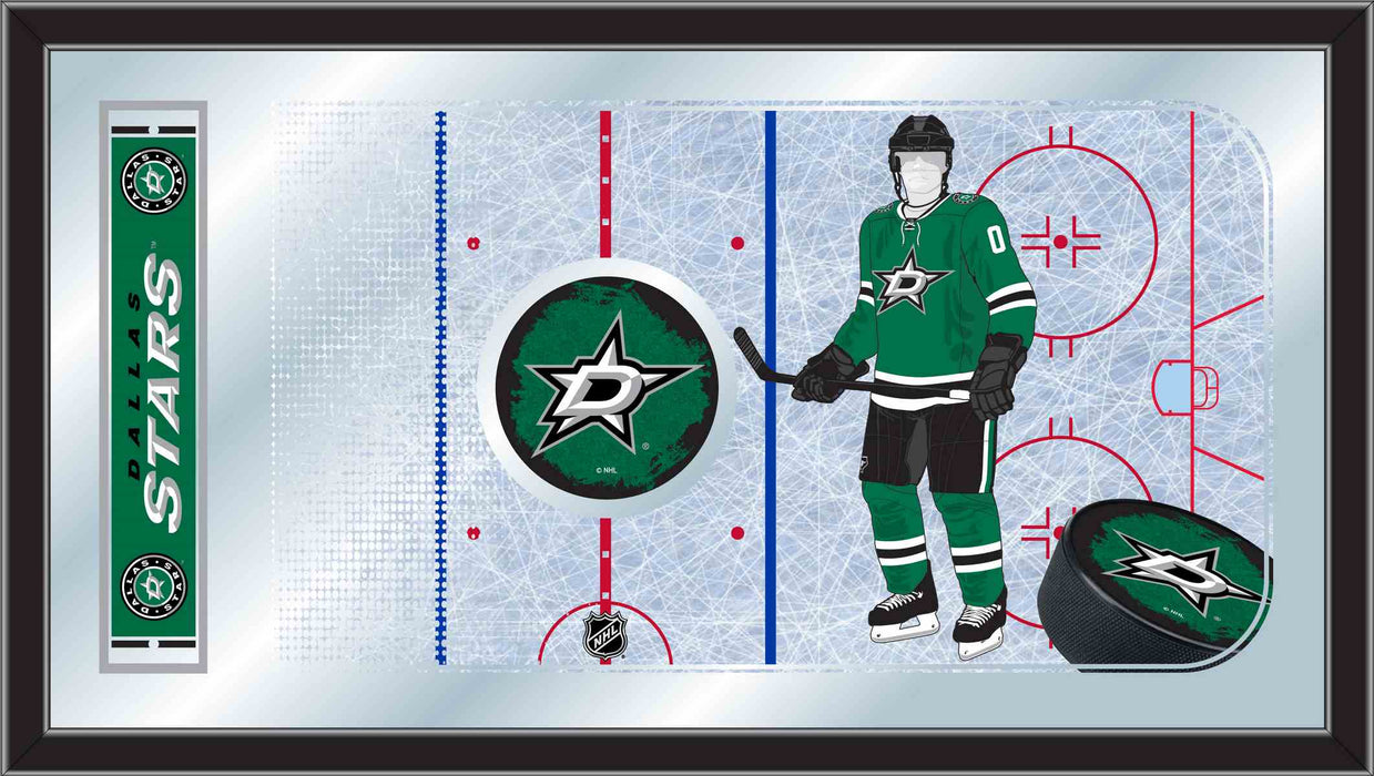 Dallas Stars Hockey Rink Bar Mirror | Man Cave Authority | MRinkDalSta