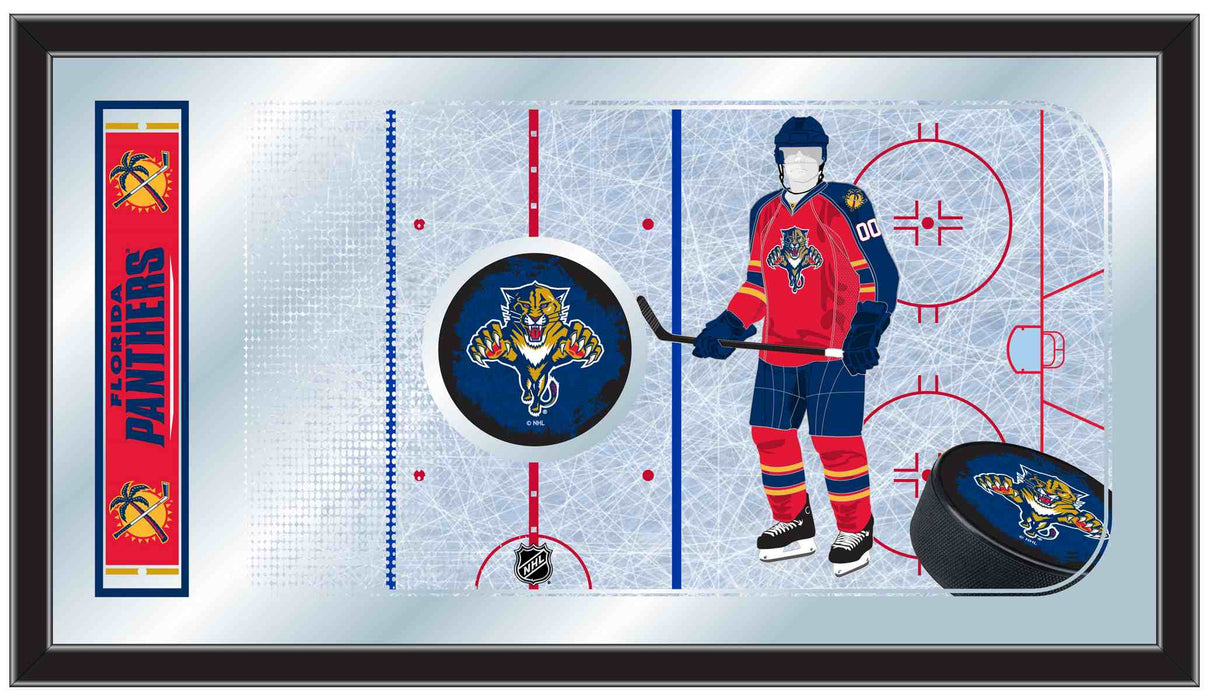 Florida Panthers Hockey Rink Bar Mirror | Man Cave Authority | MRinkFlaPan