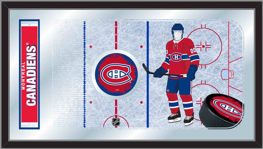 Montreal Canadiens Hockey Rink Bar Mirror | Man Cave Authority | MRinkMonCan