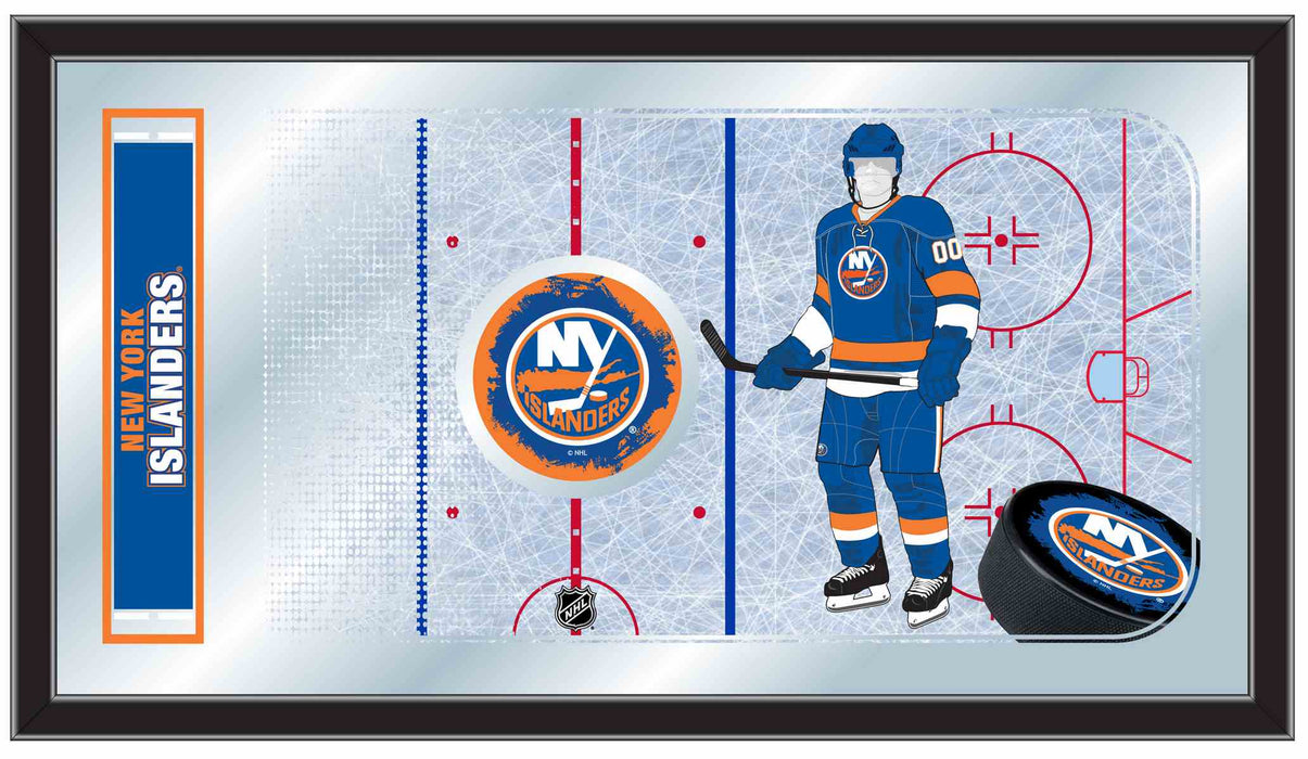 New York Islanders Hockey Rink Bar Mirror | Man Cave Authority | MRinkNYIsln