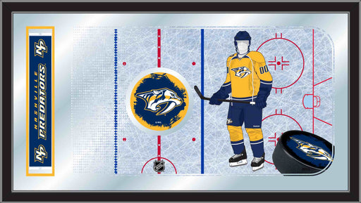 Nashville Predators Hockey Rink Bar Mirror | Man Cave Authority | MRinkNshPre