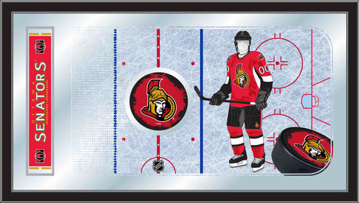 Ottawa Senators Hockey Rink Bar Mirror | Man Cave Authority | MRinkOttSen