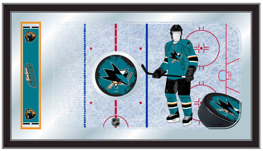 San Jose Sharks Hockey Rink Bar Mirror | Man Cave Authority | MRinkSJShar