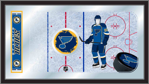 St Louis Blues Hockey Rink Bar Mirror | Man Cave Authority | MRinkSTLBlu