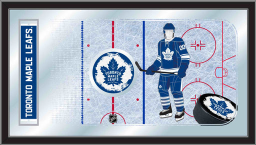 Toronto Maple Leafs Hockey Rink Bar Mirror | Man Cave Authority | MRinkTorMpl