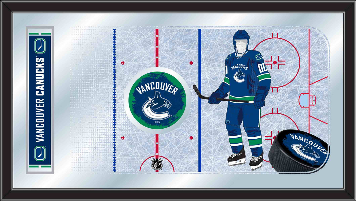 Vancouver Canucks Hockey Rink Bar Mirror | Man Cave Authority | MRinkVanCan