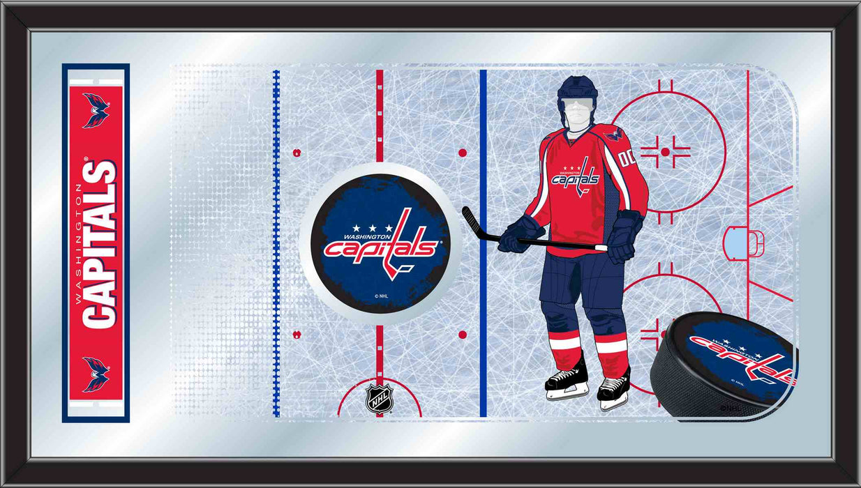 Washington Capitals Hockey Rink Bar Mirror | Man Cave Authority | MRinkWshCap