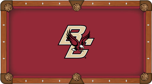 Boston College Custom Pool Table Cloth | Man Cave Authority | PTC7BostnC