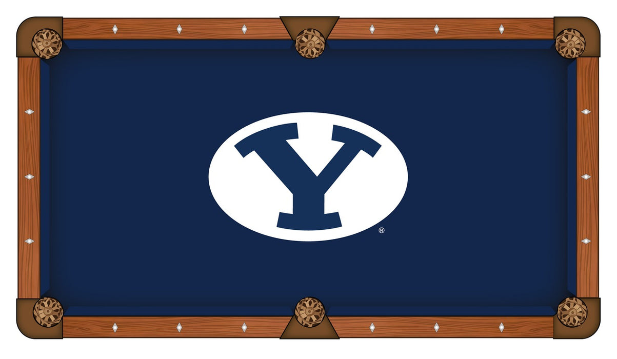Brigham Young University Custom Pool Table Cloth | Man Cave Authority | PTC7BrigYn