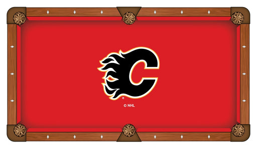 Calgary Flames Custom Pool Table Cloth | Man Cave Authority | PTC7CalFla