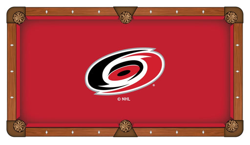 Carolina Hurricanes Custom Pool Table Cloth | Man Cave Authority | PTC7CarHur
