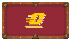 Central Michigan University Custom Pool Table Cloth | Man Cave Authority | PTC7CenMic