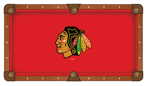 Chicago Blackhawks Custom Pool Table Cloth | Man Cave Authority | PTC7ChiHwk