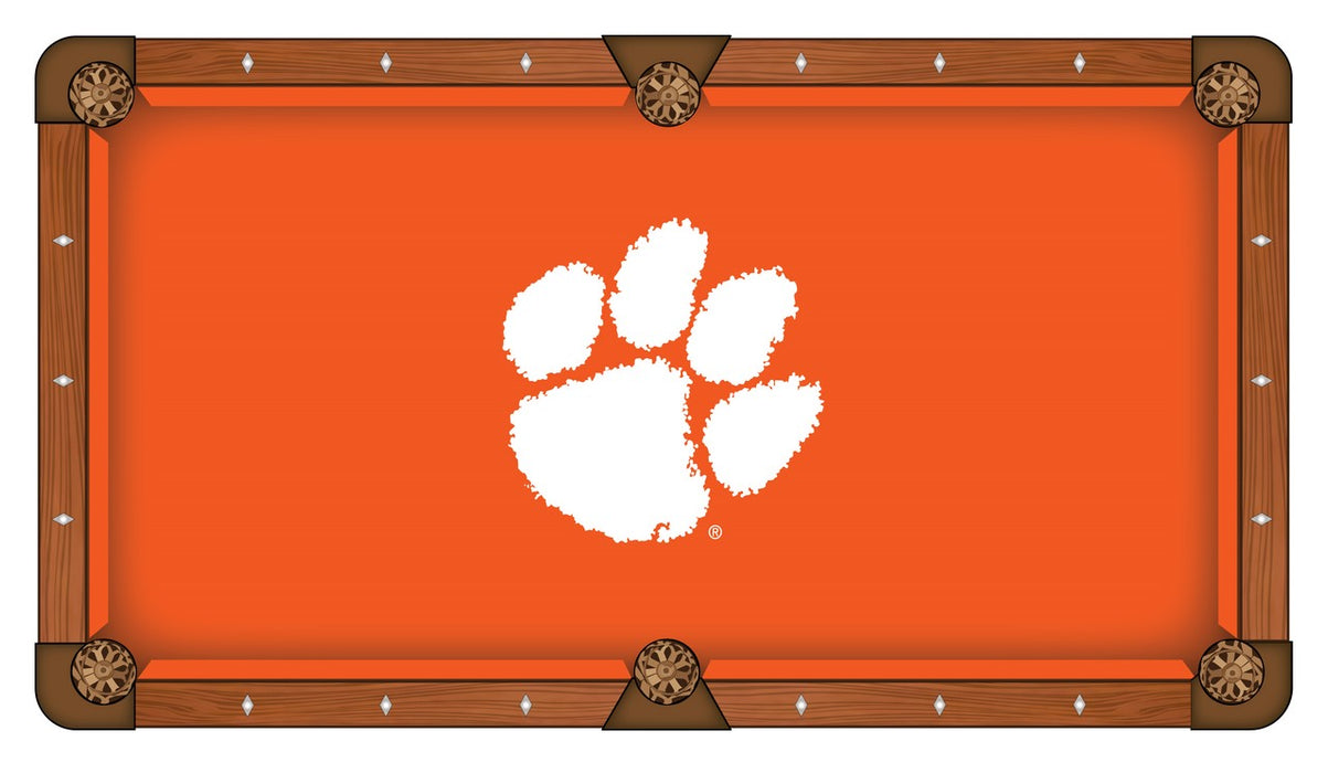 Clemson University Custom Pool Table Cloth | Man Cave Authority | PTC7Clmson