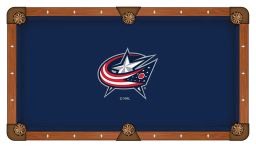 Columbus Blue Jackets Custom Pool Table Cloth | Man Cave Authority | PTC7ColBlu