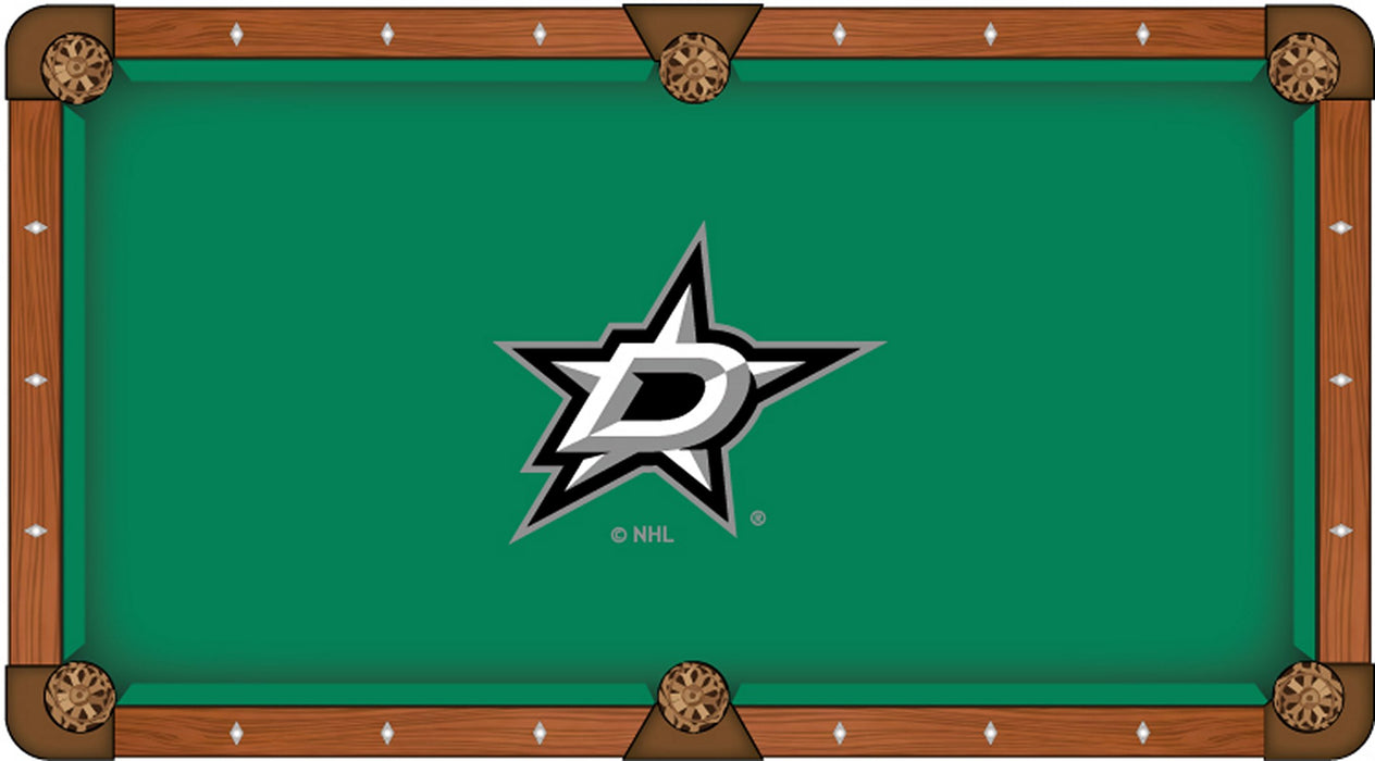 Dallas Stars Custom Pool Table Cloth | Man Cave Authority | PTC7DalSta